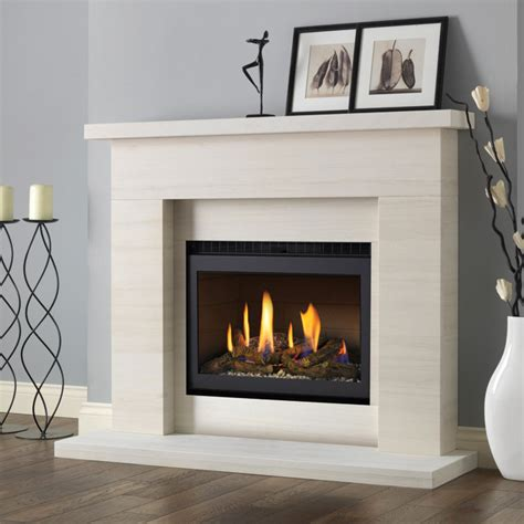 Gas Fireplace Coal by Pureglow Drayton Limestone Fireplace Suite With Chelsea