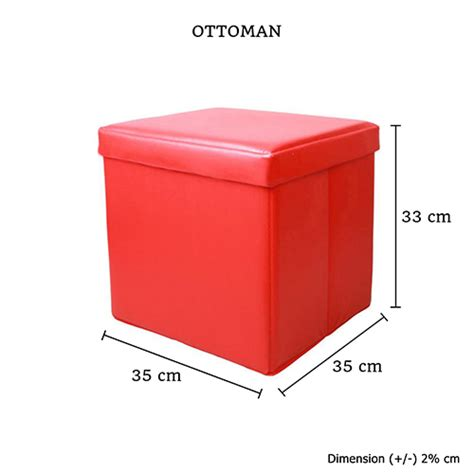small square storage ottoman footstool small shiny in red exterior square pu leather