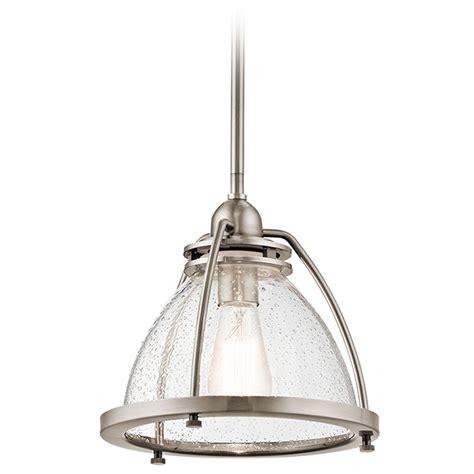Classic Pendant Lighting Seeded Glass Pendant Light Pewter Kichler Lighting 43738clp Destination Lighting
