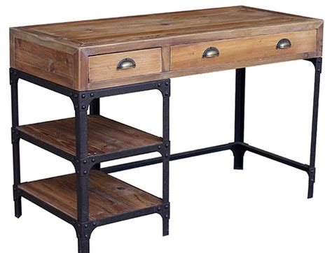 industrial desk with drawers stylish desks with industrial designs and elegant details