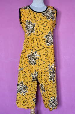 Daster Legong Tanpa Lengan Hitam daster baju tidur batik roemah jingga