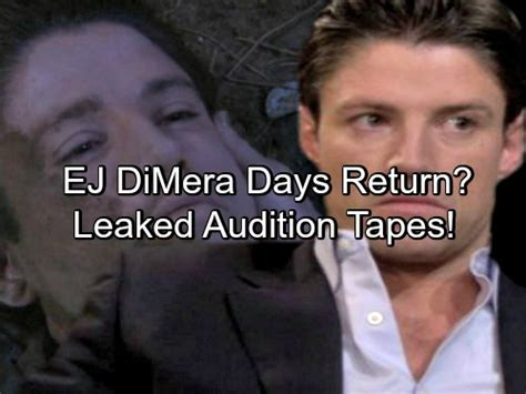 is ej alive on days of our lives 2015 days of our lives spoilers ej dimera returning to salem