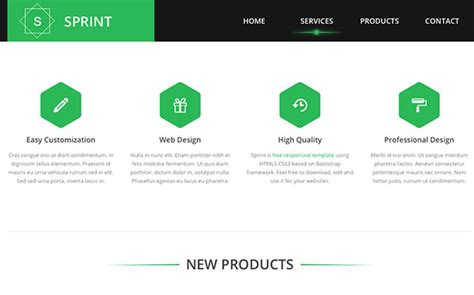html5 product template sprint free html5 template creative beacon