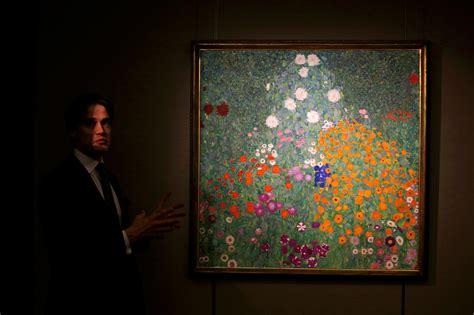 gustav klimt flower garden gustav klimt painting sells for 59 million in strong