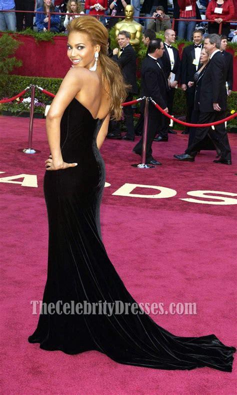 Marien Longdress beyonce knowles black formal dress oscar 2005 carpet