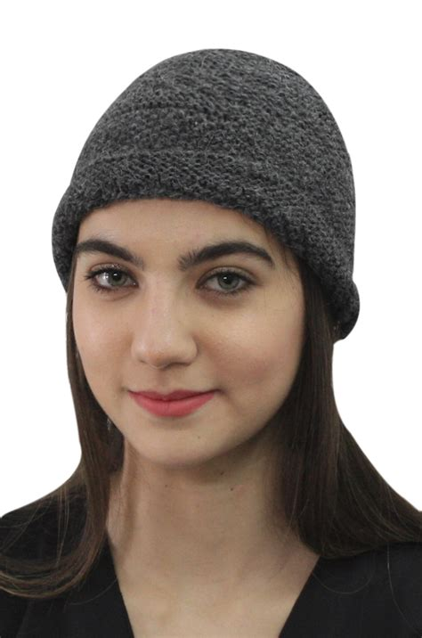 womens 100 alpaca wool handknit beanie ski hat winter