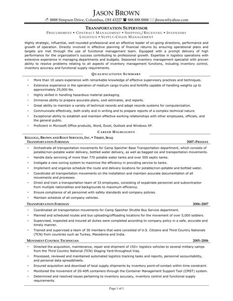 Warehouse Supervisor Resume sle resume warehouse supervisor bongdaao