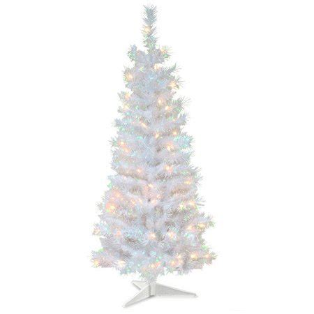 walmart canada four foot xmas trees 4 ft tinsel wrapped pre lit medium tree white walmart