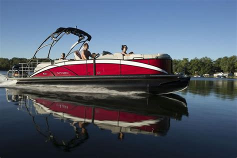 sylvan pontoon boats sylvan pontoon boats head turning luxury mind blowing