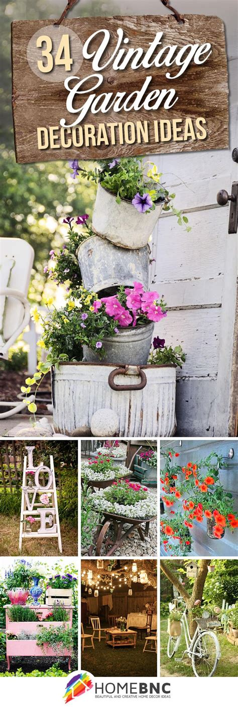 Garden Decorations Ideas 25 Best Ideas About Vintage Garden Decor On Pinterest Rustic Garden Decor Vintage Gardening