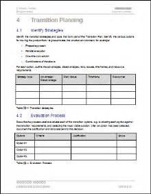 System Transition Plan Template by Transition Plan Template Technical Writing Tips