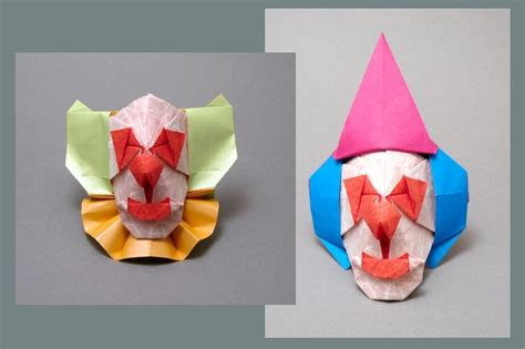 Origami Clown - origami clowns page 1 of 2 gilad s origami page