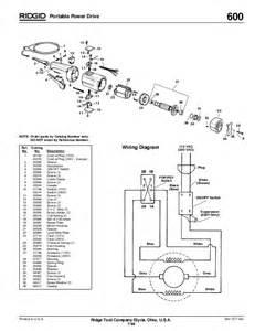 ridgid parts wiring diagram and parts diagram images
