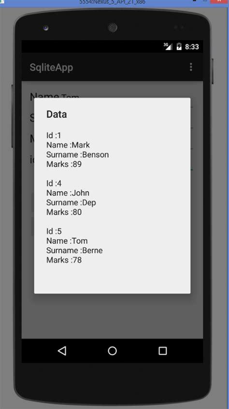 android studio sqlite database tutorial pdf android sqlite database tutorial select insert update