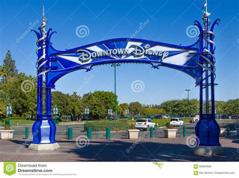 downtown disney sign editorial stock image image 60694939