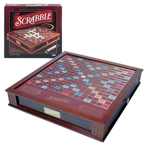 scrabble deluxe wooden edition scrabble deluxe premier wood edition hasbro