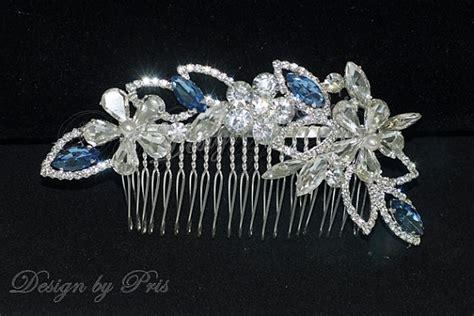 wedding hair accessories green bridal rhinestone and swarovski white pearls something blue