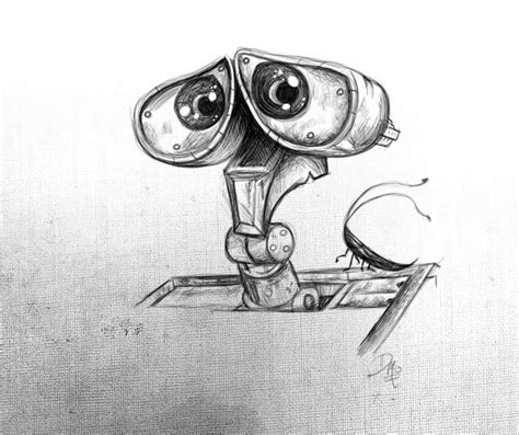 ideas for drawing pencil sketch quot wall e quot by david mott cool drawings