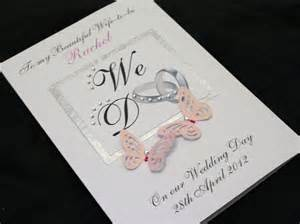 large handmade personalised wedding day to be card