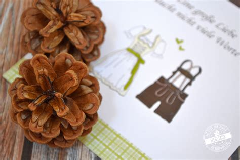 Hochzeitseinladung Tracht by Daniela Leopold Feenstaub At