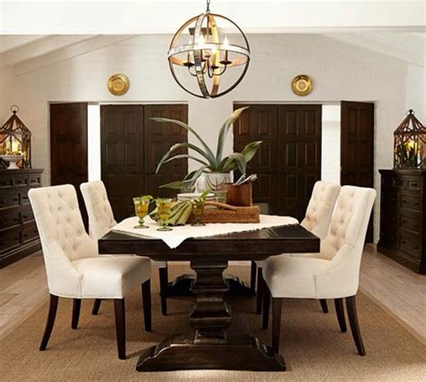 pottery barn dining room pottery barn banks dining table home decor pinterest