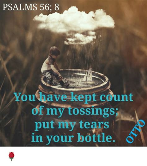 psalms      count   tossing put  tears