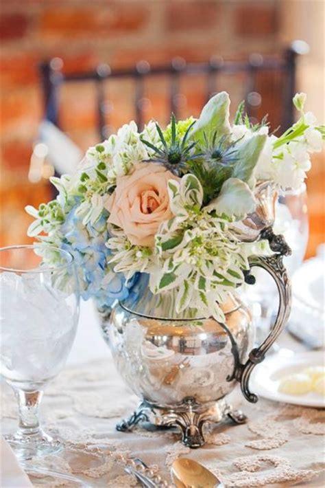 teapot table centerpiece ideas   wedding