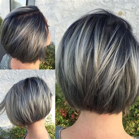 pictures of frosted grey hair image result for frosted hair for gray hair cortes de