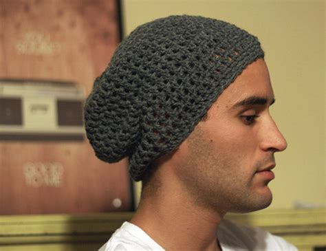 pattern crochet mens hat slouch hats tag hats
