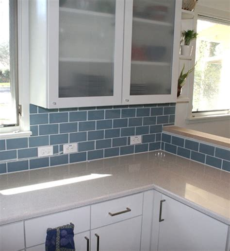blue subway tile backsplash 17 best images about kitchen ideas on pinterest countertops subway tile backsplash and glass