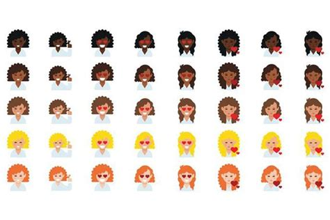 hairstyles emoji curly haired emojis because why should straight haired
