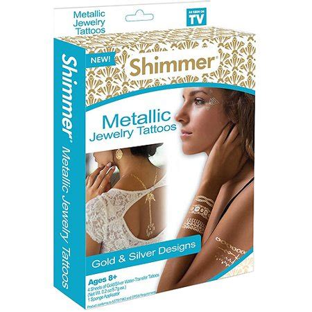 fake tattoos walmart as seen on tv shimmer metallic jewelry temporary