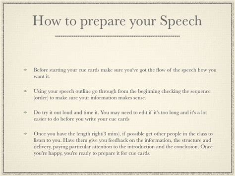 speech note card template writing cue cards