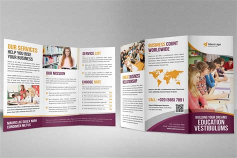30 Educational Brochure Templates Free Psd Word Designs Free Education Brochure Templates For Word