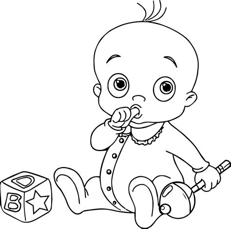 coloring page of baby boy new boy baby coloring page wecoloringpage