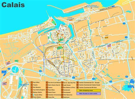 calais map calais sightseeing map