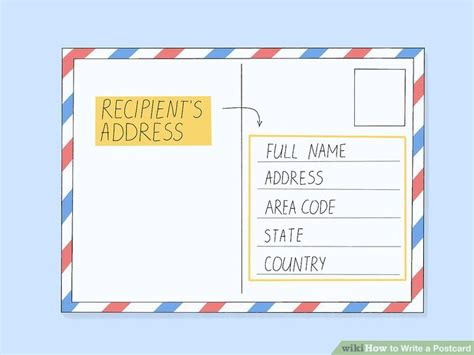 postcard template year 2 how to write a postcard with sle postcards wikihow