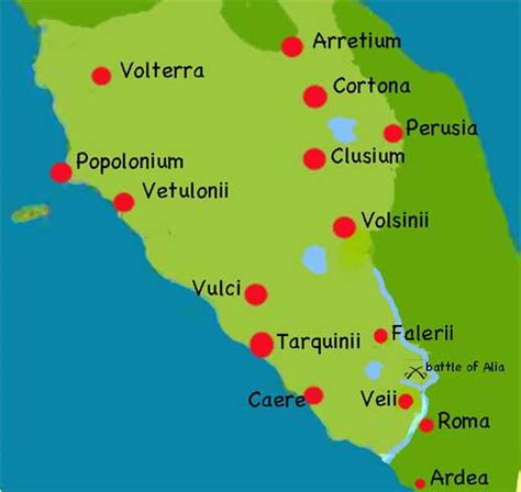 etruria roma maps of the ancient empire