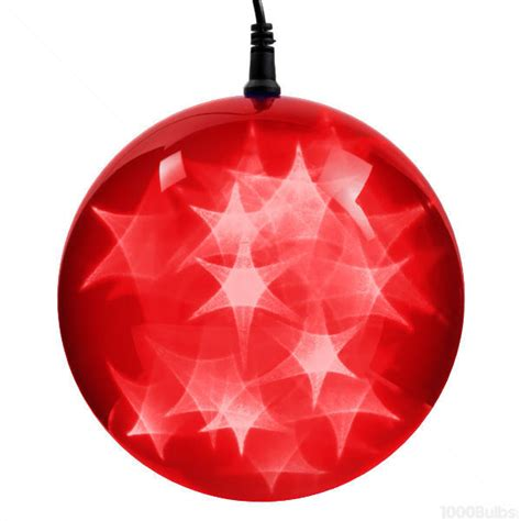 red holographic starfire sphere led lights