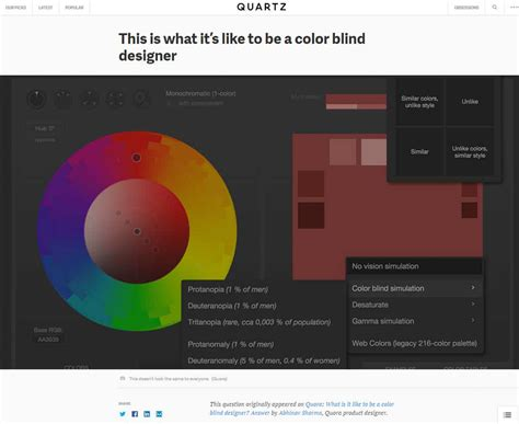 what it s like to be color blind la semaine en pixels 7 ao 251 t 2015 st 233 phanie walter ux