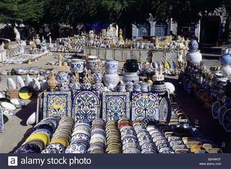 Handcraft Market - geography travel tunisia handcraft market with