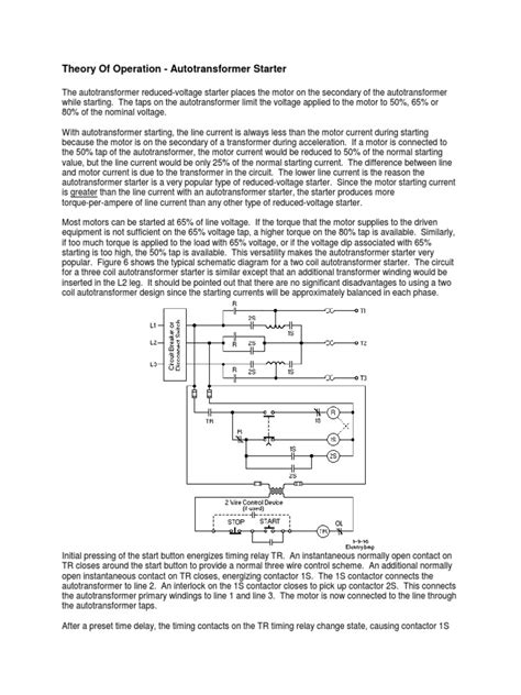 Theory Of Operation - Autotransformer Starter.pdf | Power