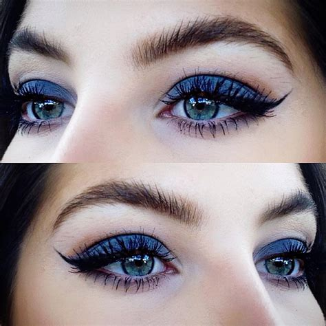 Eyeshadow Blue how to rock blue makeup looks 20 blue makeup ideas