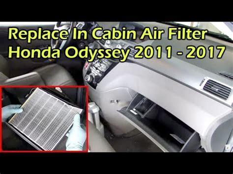 Honda Odyssey Cabin Air Filter by Honda Odyssey Change In Cabin Air Filter 2011 2015