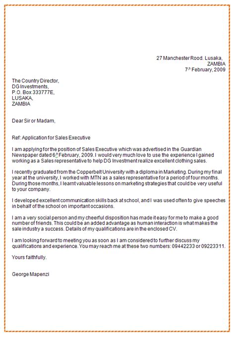 Application Letter For Zambia National Service 92 Application Letters In Zambia Letter Sle