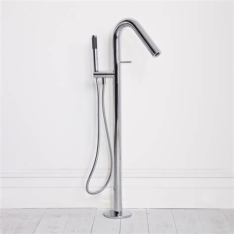 Floor Standing Bath Shower Mixer amari stone freestanding eco chrome mixer floor