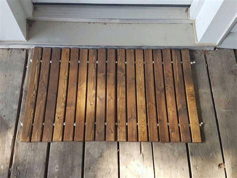 Wooden Door Mat by Wood Welcome Door Mat Wooden Door Mat Wooden Doormat