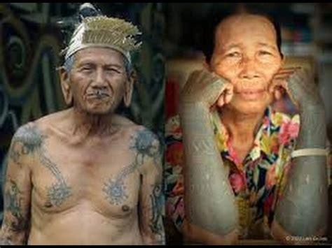 tato orang dayak asal usul tatto dayak kalimantan youtube