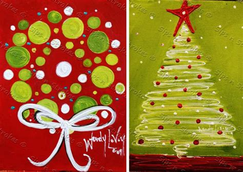 christmas paintings crafty and sassy pinterest