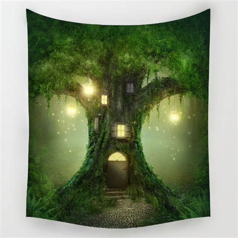 fairy forest tapestry bohemian wall hanging tapestry